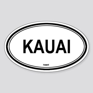 Kauai (Hawaii) Oval Sticker
