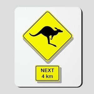 Kangaroos Road Sign Mousepad