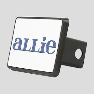 Allie Blue Glass Rectangular Hitch Cover
