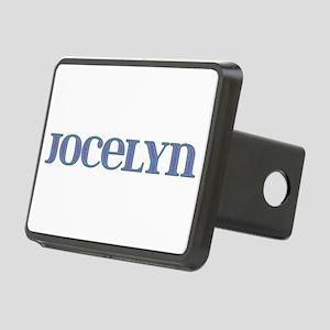 Jocelyn Blue Glass Rectangular Hitch Cover