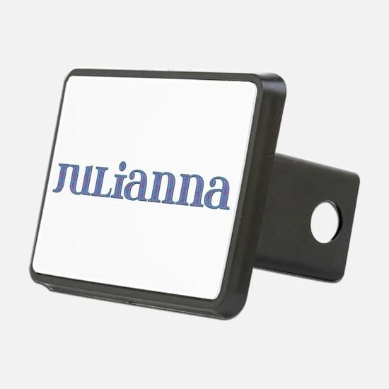 Julianna Blue Glass Hitch Cover