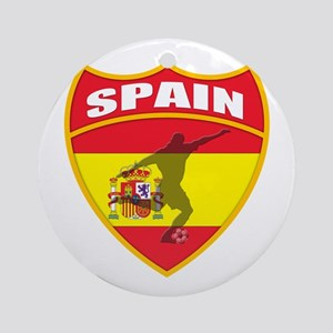 Spain World Cup Soccer Ornament (Round)