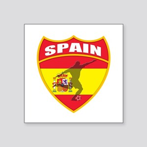 "Spain World Cup Soccer Square Sticker 3"" x 3"""