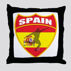 Spain World Cup Soccer Throw Pillow