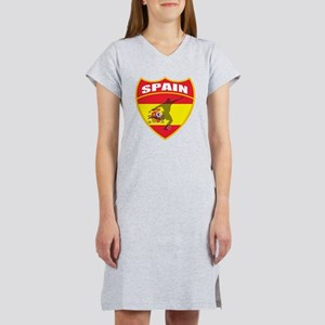 Spain World Cup Soccer Women's Nightshirt