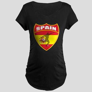 Spain World Cup Soccer Maternity Dark T-Shirt