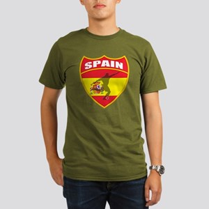 Spain World Cup Soccer Organic Men's T-Shirt (dark