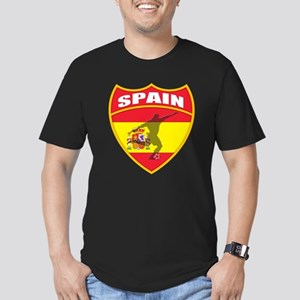 Spain World Cup Soccer Men's Fitted T-Shirt (dark)