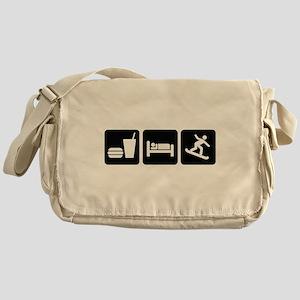 Eat Sleep Snowboard Messenger Bag