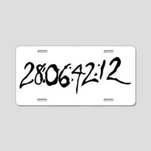 End Of World Aluminum License Plate