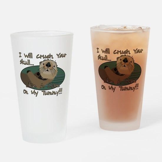 Otter Skull Crush Drinking Glass