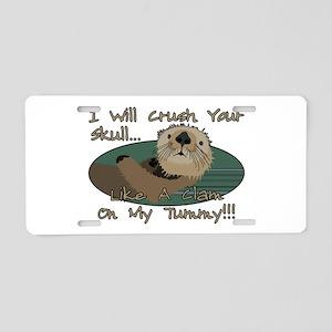 Otter Skull Crush Aluminum License Plate