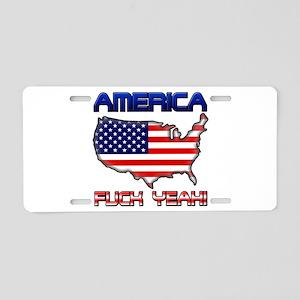 America Fuck Yeah Aluminum License Plate