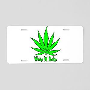 Wake N Bake Aluminum License Plate