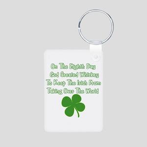 Irish Whiskey Aluminum Photo Keychain