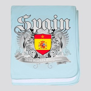 Spain World Cup Soccer baby blanket