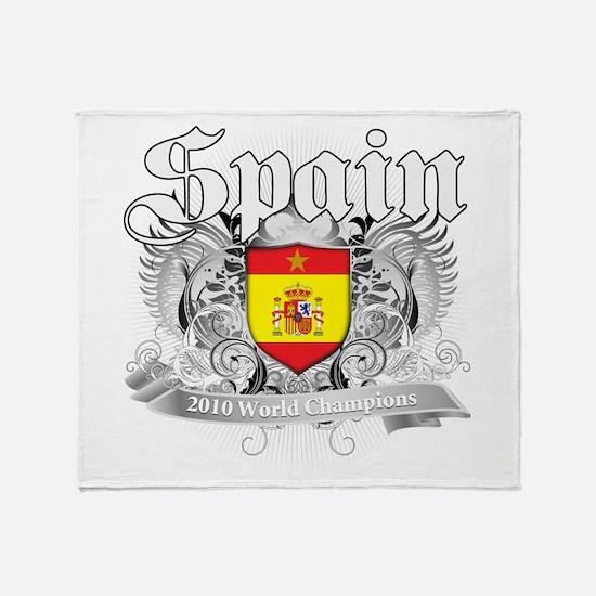 Spain World Cup Soccer Throw Blanket
