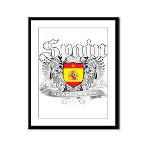 Spain World Cup Soccer Framed Panel Print