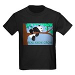 Panda says READ.KNOW.GROW. Kids Dark T-Shirt
