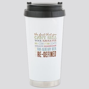 Marriage Re-Defined Stainless Steel Travel Mug