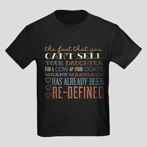 Marriage Re-Defined Kids Dark T-Shirt