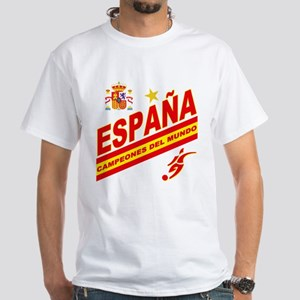 Spain World Cup Soccer White T-Shirt