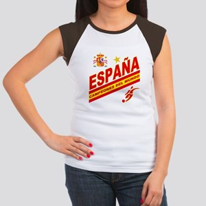 Spain World Cup Soccer Women's Cap Sleeve T-Shirt