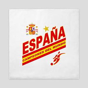 Spain World Cup Soccer Queen Duvet