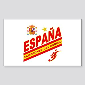 Spain World Cup Soccer Sticker (Rectangle)