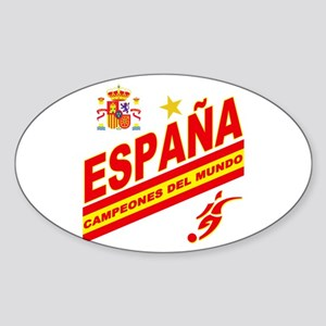 Spain World Cup Soccer Sticker (Oval)