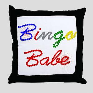 Bingo Babe Throw Pillow