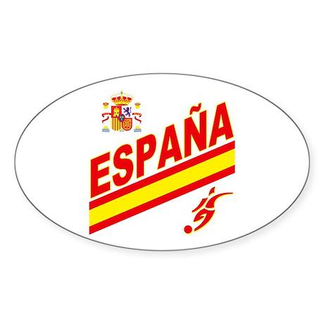 Spain World Cup Soccer Sticker (Oval 10 pk)