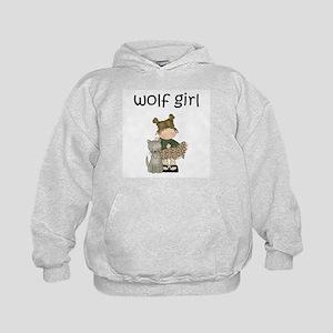 Wolf Girl Kids Hoodie