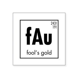 83232d682b3c6f Periodic Table Gold Stickers - CafePress