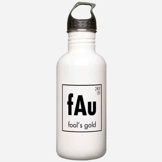 Fools Gold in Black Water Bottle