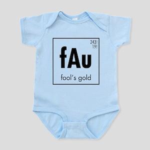 Fools Gold in Black Infant Bodysuit