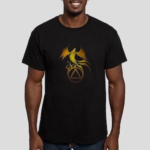 A.A. Logo Phoenix - Men's Fitted T-Shirt (dark)