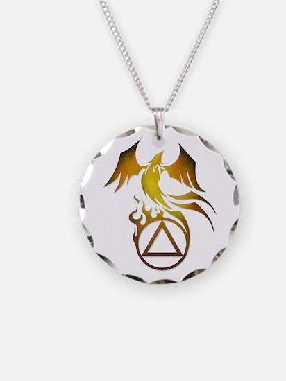 A.A. Logo Phoenix - Necklace Circle Charm