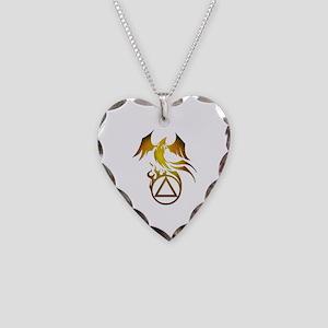 A.A. Logo Phoenix - Necklace Heart Charm