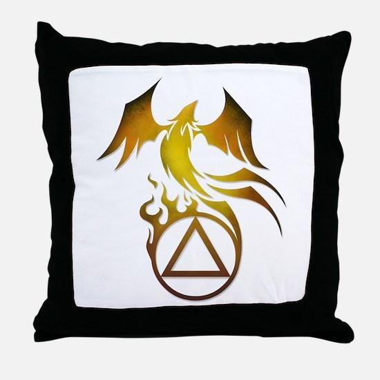 A.A. Logo Phoenix - Throw Pillow