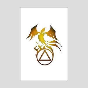 A.A. Logo Phoenix - Mini Poster Print