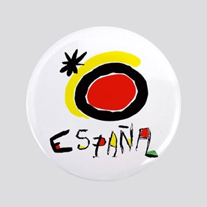 "Spain World Cup Soccer 3.5"" Button"