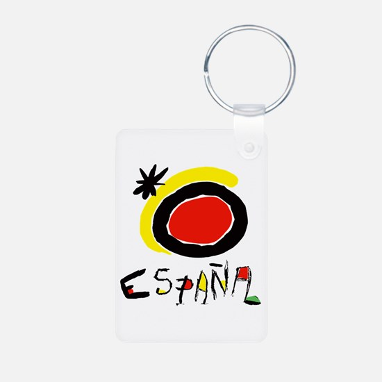 Spain World Cup Soccer Aluminum Photo Keychain