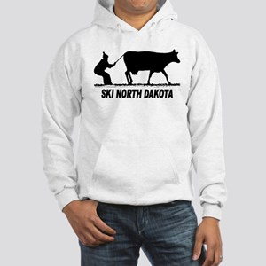 Ski North Dakota Hooded Sweatshirt
