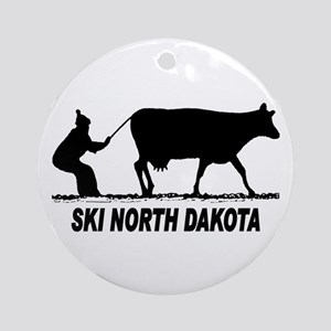 Ski North Dakota Ornament (Round)