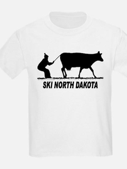 Ski North Dakota Kids T-Shirt