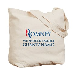 Anti-Romney: Guantanamo Tote Bag