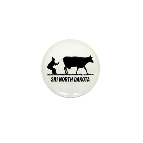 Ski North Dakota Mini Button (100 pack)