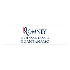 Anti-Romney: Guantanamo 20x6 Wall Decal