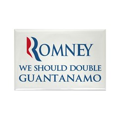 Anti-Romney: Guantanamo Rectangle Magnet